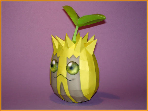 Sunkern Papercraft by Skele-kitty