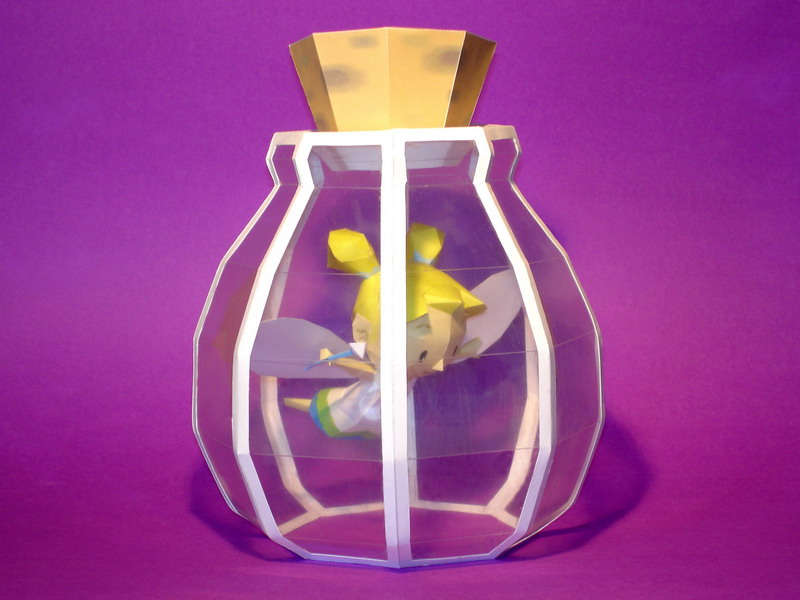 Fairy in a Bottle Papercraft by Skele-kitty