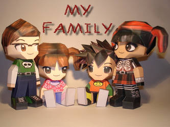 Papercraft Family by Skele-kitty