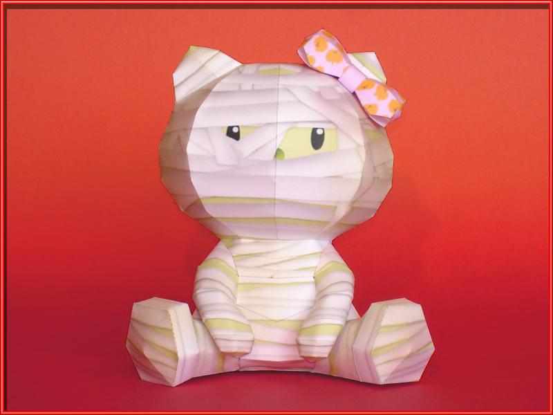 Hello Mummy Papercraft by Skele-kitty