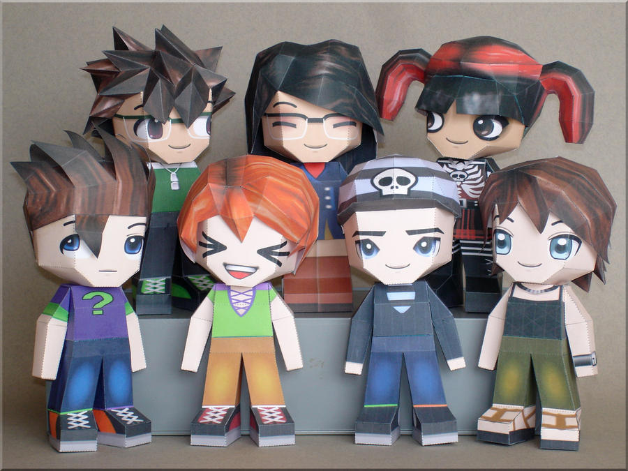 Paperpokes Team Papercraft By Skele Kitty