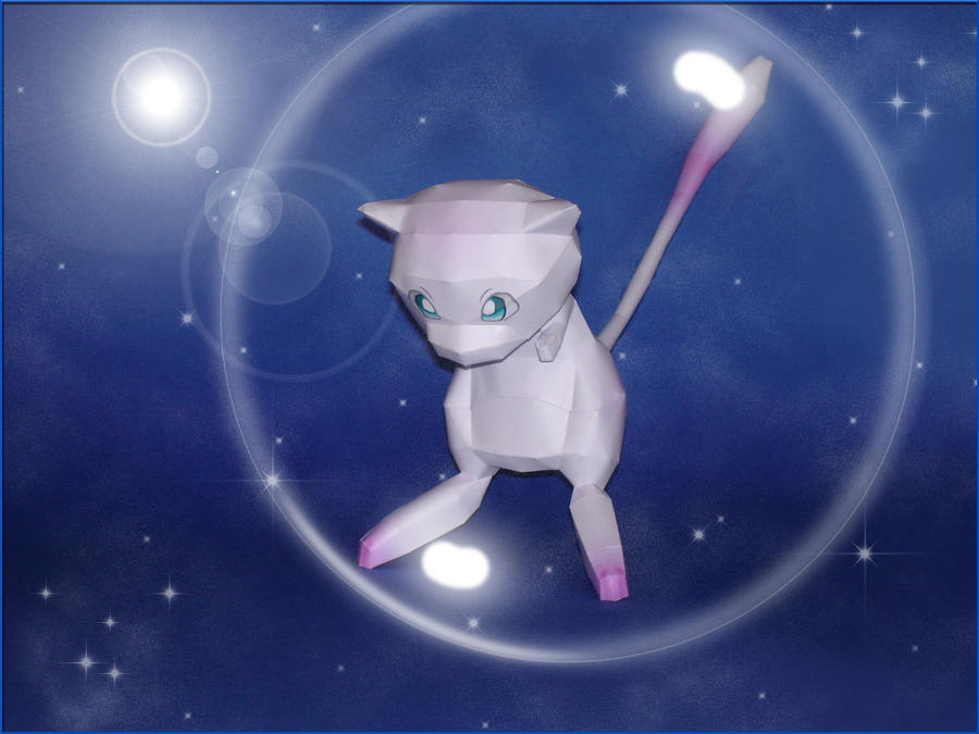 Mew Papercraft by Skele-kitty