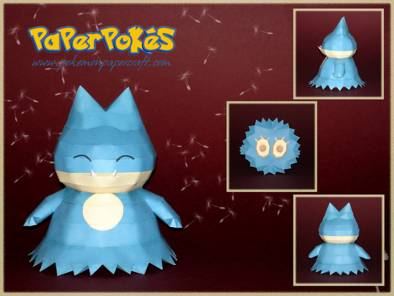Munchlax Papercraft by Skele-kitty