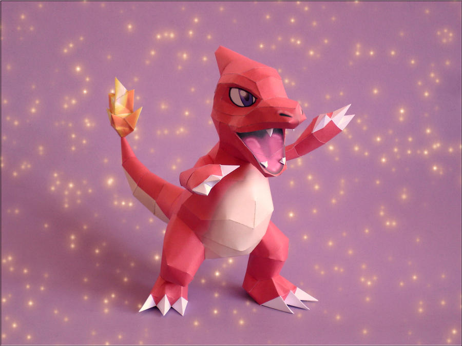 Charmeleon Paperpcraft by Skele-kitty