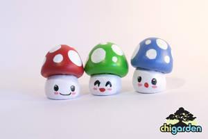 RGB Shrooms by chisa