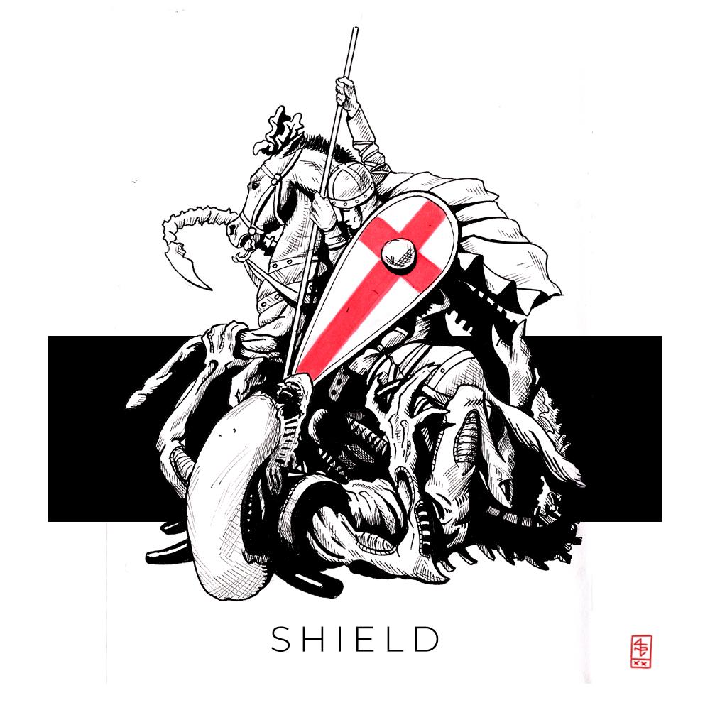 Inktober 52 2021: 13 Shield
