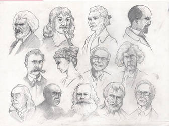 Portrait Study: Philosophers