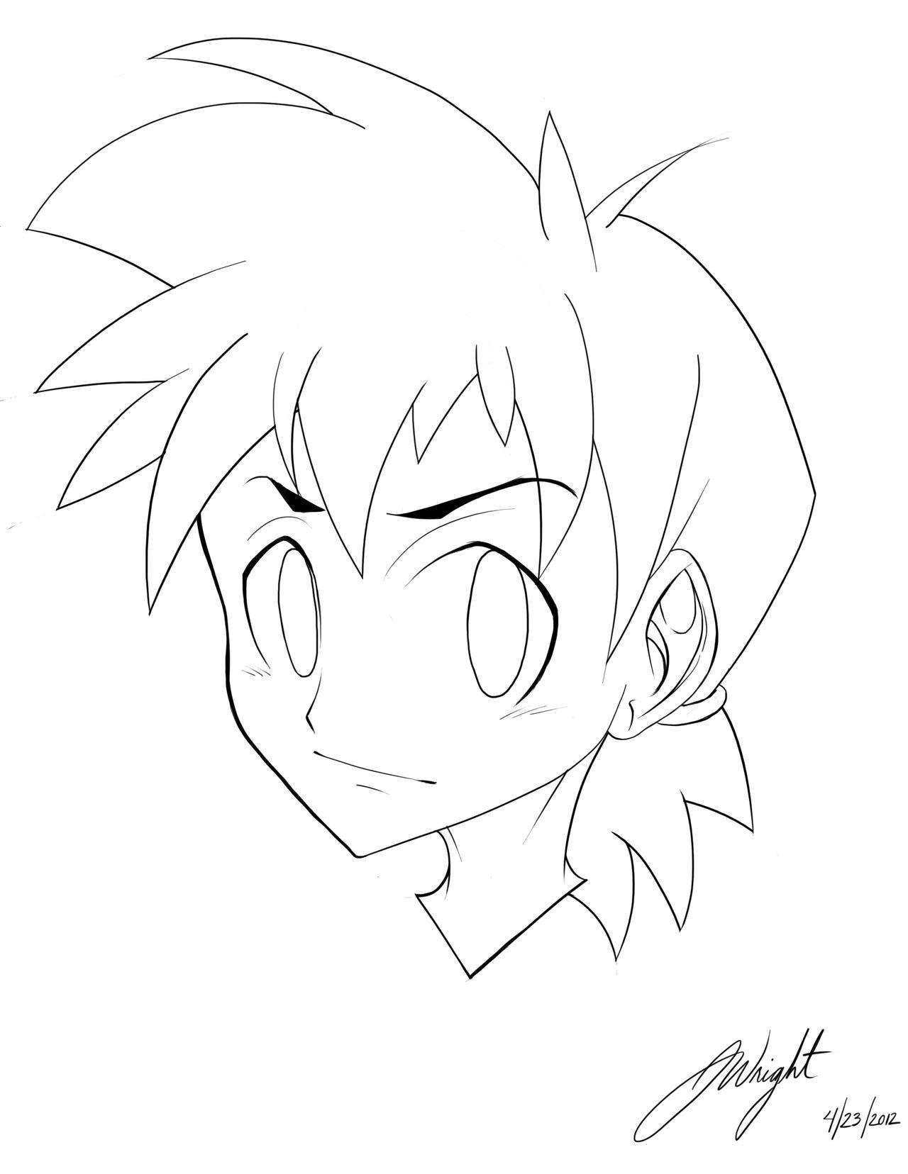 Line Art Anime : Anime line art practice by joshtheartist on deviantart