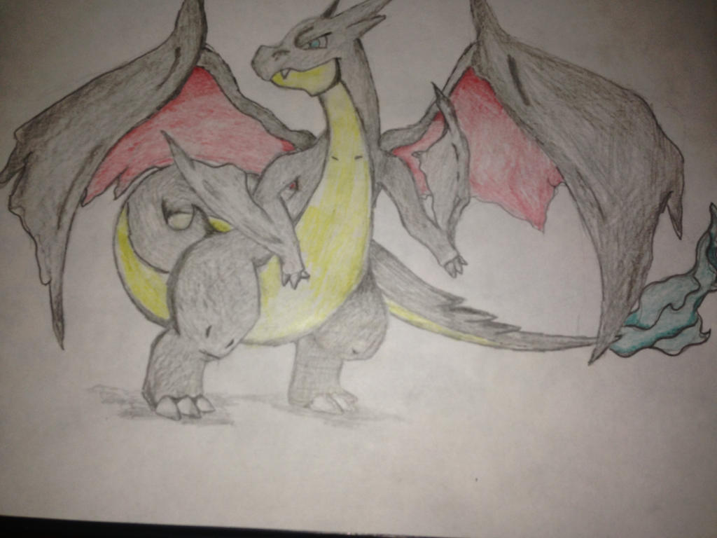 Black mega Charizard by Ceri19