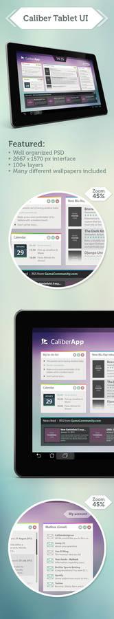 Clean Tablet UI