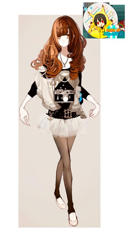Render- Chica anime by KillerJeff234