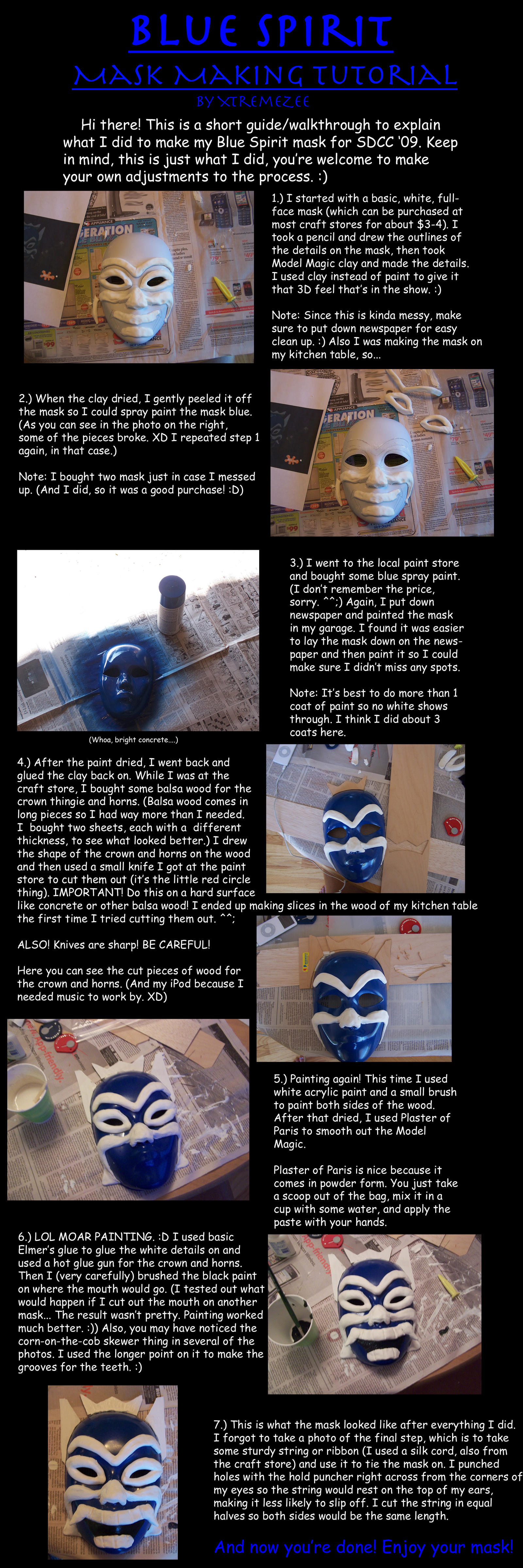 Blue Spirit Mask Tutorial by XtremeZee