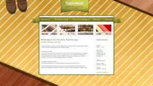website layout carpet dealer