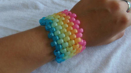 Glow In The Dark Rainbow Cuff by ManiacalRemedies