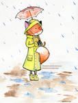 Rainy fox