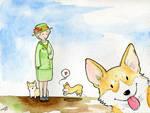 World's Watercolor Month - Day 7 : Queen Elizabeth