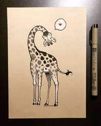 Inktober 2018 - Day 23 - Giraffe