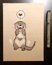 Inktober 2018 - Day 26 - Otter
