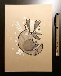 Inktober 2018 - Day 27 - Badger