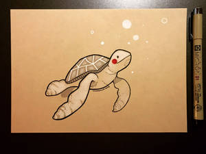 Inktober 2018 - Day 29 - Turtle