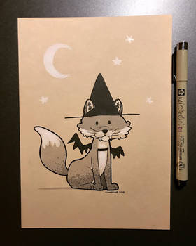 Inktober 2018 - Day 31 - Fox