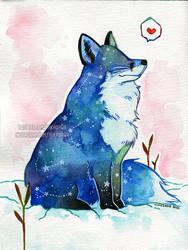 Snow Galaxy Fox