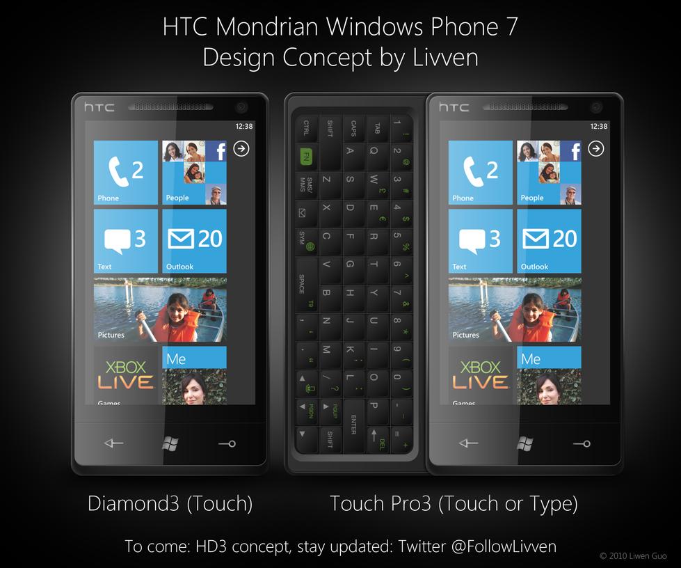 HTC Mondrian Windows Phone 7 by Livven