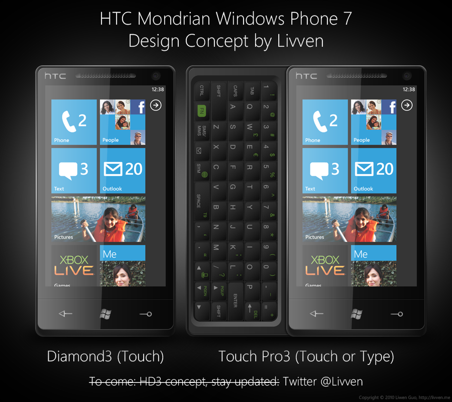 HTC Mondrian Concept PSD