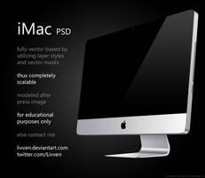 Apple iMac PSD by Livven