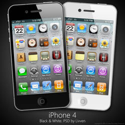 iPhone 4 PSD: White and Black