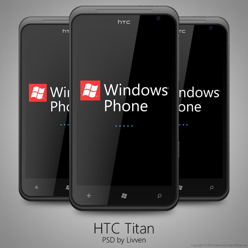 HTC Titan Windows Phone 7 PSD