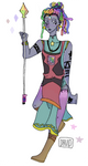 Rainbow Moonstone (Pearl and Bismuth fan fusion) by davidlm123