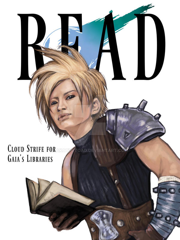 Cloud Strife for the Gaia Library Association by akatheToad