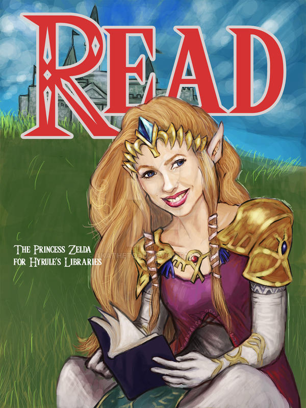 Princess Zelda for the Hyrulian Library by akatheToad