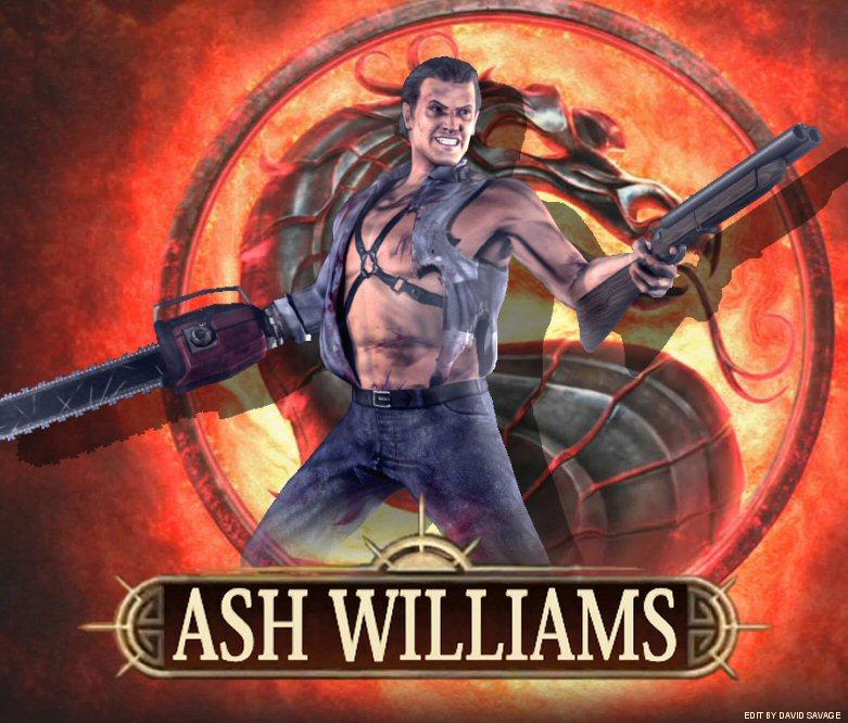 mortal kombat dlc ash williams by ultimatesavage on