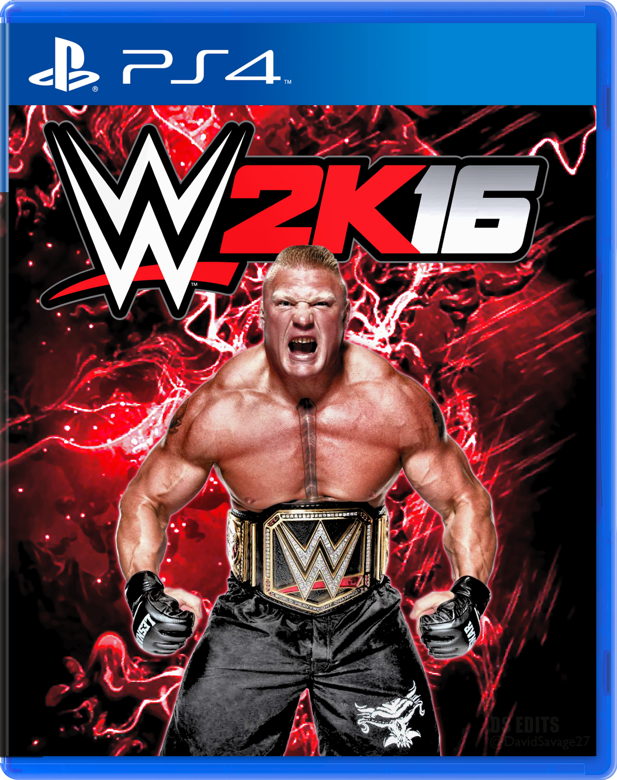 WWE 2K16 Fan made cover PS4 by ultimate-savage