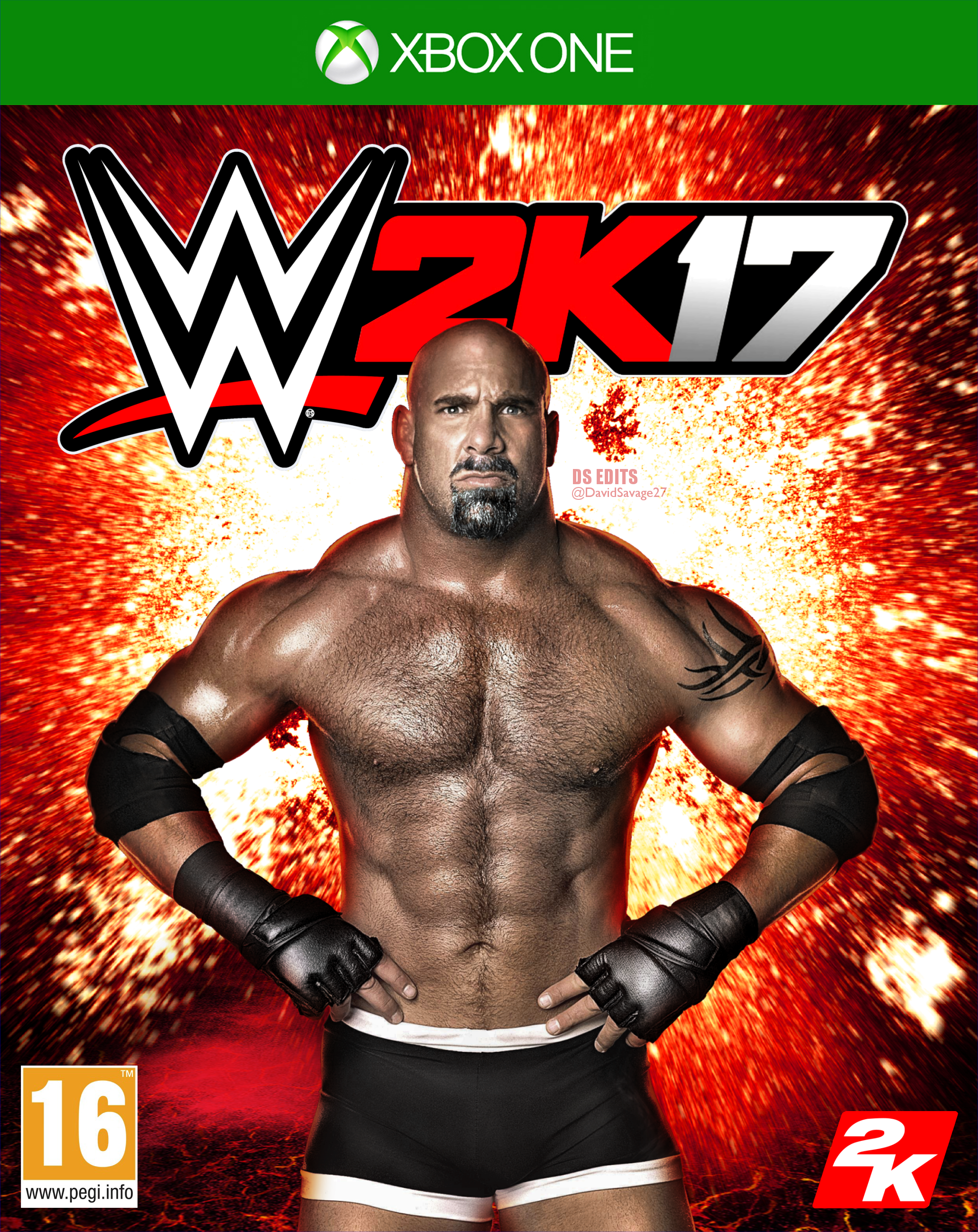 Book Cover Background Xbox One ~ Wwe k goldberg xbox one cover by ultimate savage on