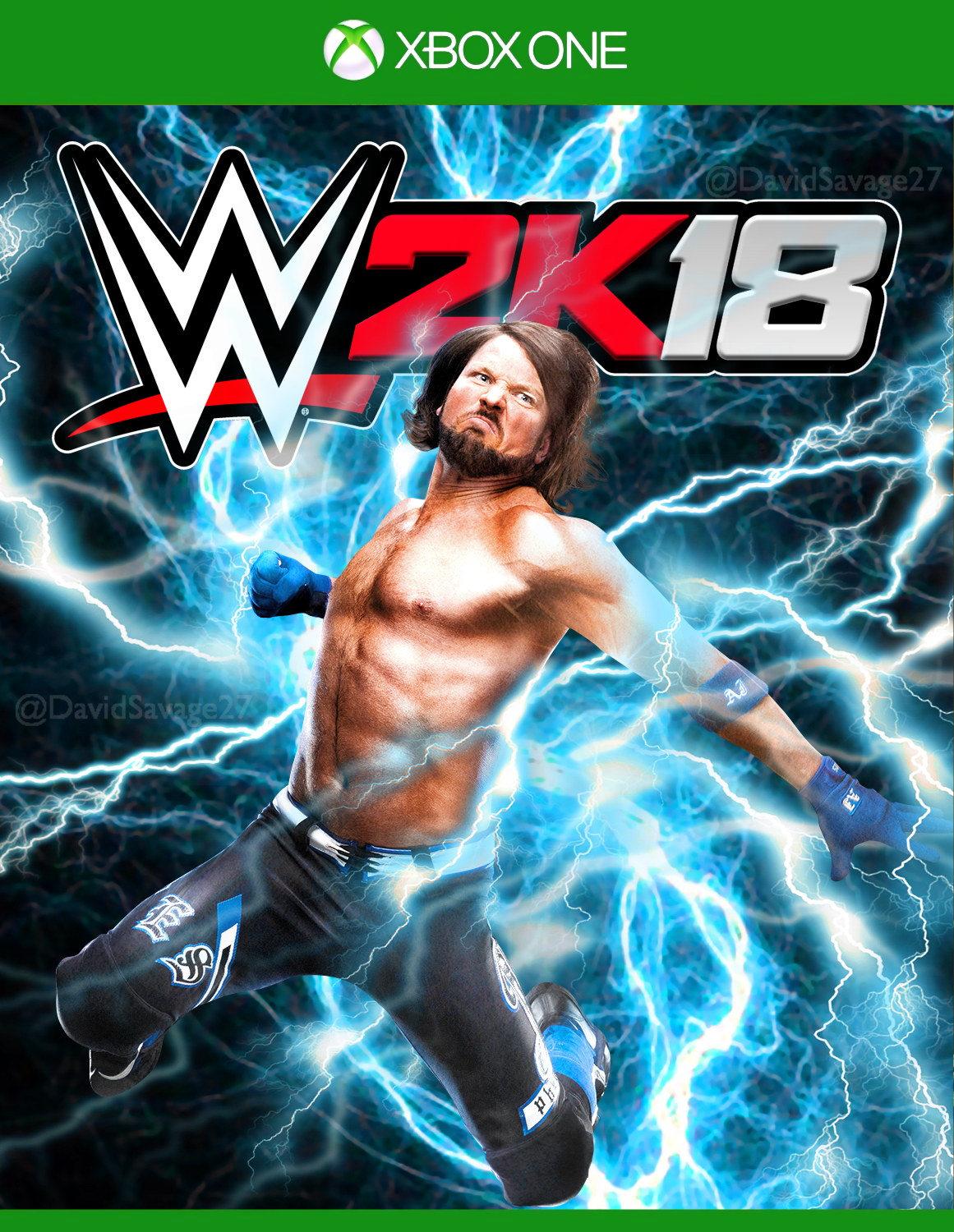 Book Cover Background Xbox : Wwe k cover xbox one by ultimate savage on deviantart