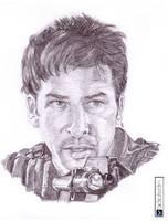John Sheppard Pencil portrait by Miso-no-Tsuki