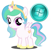 Windows Pony Start Icon by Nerve-Gas
