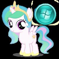 Windows Pony Start Icon by Nerve-Gas