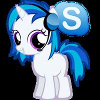 Pony Skype Icon (Vinyl Scratch) by Nerve-Gas