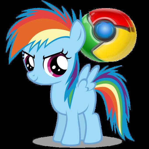 Pony Google Chrome icon (RBD) by Nerve-Gas