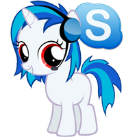 Vinyl Scratch Skype Icon (red-eye) by Nerve-Gas