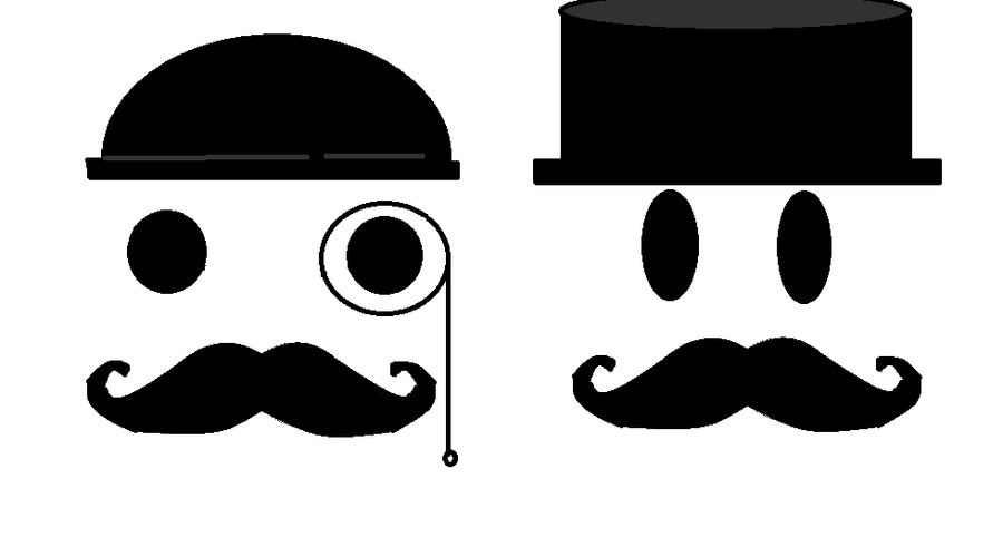 Don Mostacho and Sr. Mostacho by Mikuru991
