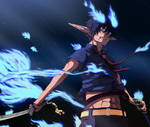 Blue exorcist rin by execution97