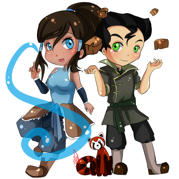 paypal commission korra bolin and pabu by