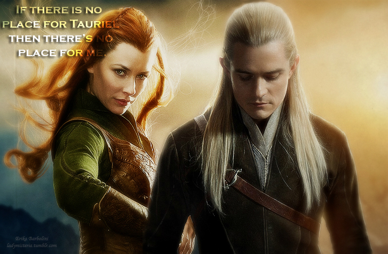 Legolas and Tauriel. by ladymisteria91 on DeviantArt