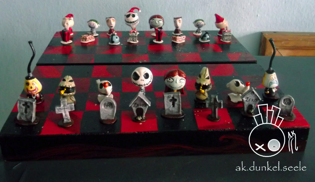 Nightmare Before Christmas Bighead Chess by Aketzalidunkel on ...