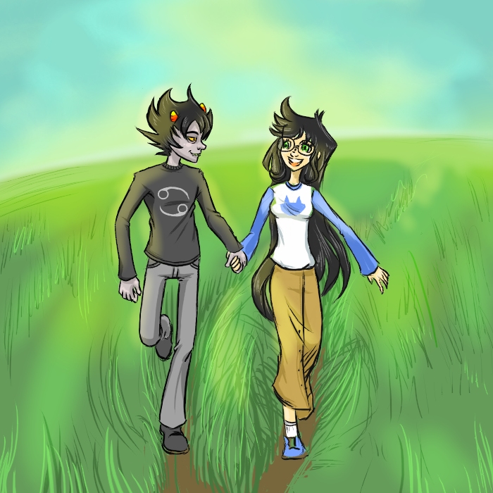 Running: Karkat and Jade by SkooIsCoo